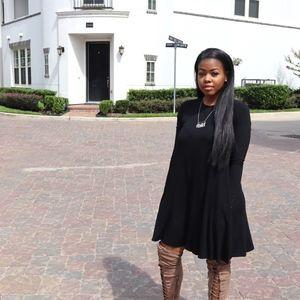 Black Poly Dress
